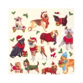 12 Dogs Days Of Christmas Beverage Paper Napkins
