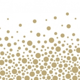 Metallic Bubbly Gold Polka Dot Luncheon Napkins