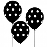 Black and White Polka Dot Balloons Set of 10