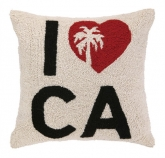 I Heart CA Hook Pillow