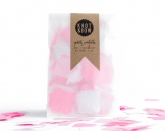 Bright Pink and White Mix Confetti Squares