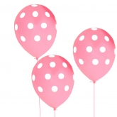 Pink with White Polka Dots Balloons Set of 10