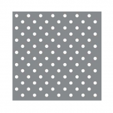 Metallic Silver and White Small Polka Dot Beverage Paper Napkins