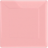 New Pink Square Dinner Paper Plates Set of 20