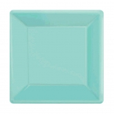 Robin's Egg Blue Square Dessert Paper Plates Set of 20