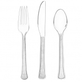Clear Extra Heavy Weight Cutlery Set of 20