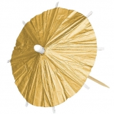 Gold Cocktail Parasols