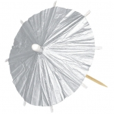Silver Cocktail Parasols