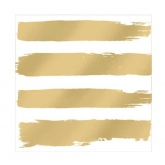 Gold Brush Stroke Stripe Beverage Paper Napkins