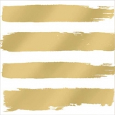 Gold Brush Stroke Stripe Luncheon Paper Napkins