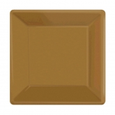 Gold Square Dessert Paper Plates Set of 20