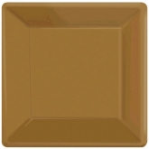 Gold Square Dinner Paper Plates Set of 20