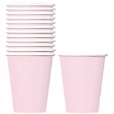 Pale Pink Paper Cups Set of 8