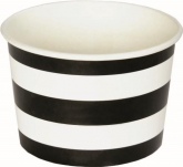 Black and White Stripe Ice Cream Cups