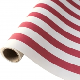 Classic Red and White Stripe Table Wrap 25 Foot Paper Runner