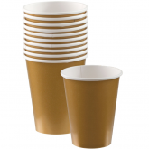Gold Paper Cups Set of 20