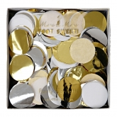 Gold and Silver Metallic Confetti