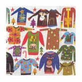 Ugly Christmas Sweater Beverage Paper Napkins