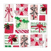 Christmas Gifts Beverage Paper Napkins by Rosanne Beck