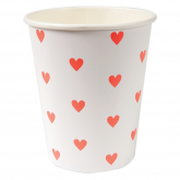 Pink Hearts Pattern Paper Cups