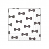 Black and White Bow Tie Beverage Paper Napkins