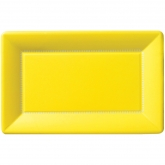 Yellow Large Rectangular Cafe Paper Plates
