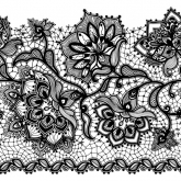 Black Chantilly Lace Luncheon Napkin