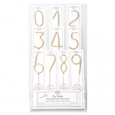 Gold Number Sparkler Wand Candles