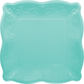 Teal Blue Pottery Dinner Paper Plates