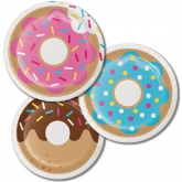 Donuts Dessert Paper Plates