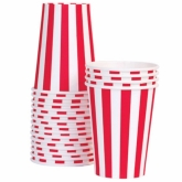 Red and White Stripes Paper Cups