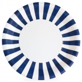 Navy and White Stripe Paper Plates