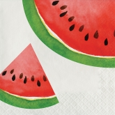 Watercolor Watermelon Luncheon Paper Napkins