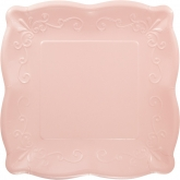 Light Pink Pottery Dinner Paper Plates