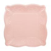 Light Pink Pottery Dessert Paper Plates
