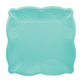Teal Blue Pottery Dessert Paper Plates