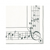 Sonata Musical Notes Cocktail Paper Napkins
