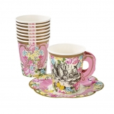 Alice and Wonderland Cup and Saucers