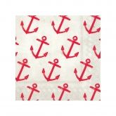 Heimathafen Red Anchor Cocktail Paper Napkins