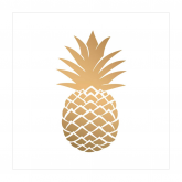 Gold Pineapple Cocktail Paper Napkins