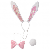 Pink and White Polka Dots Bunny Ears Kit