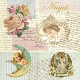 Romantic Angels Luncheon Paper Napkins