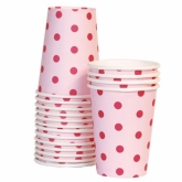 Pink and Fuschia Polka Dot Paper Cups
