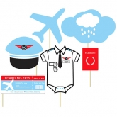 Airplane Baby Shower Photo Booth Props Personalized