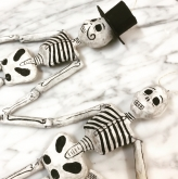 Mr. and Mrs. Recycled Paper  Skeleton Ornaments