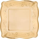 Metallic Gold Square Dinner Paper Plates