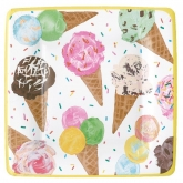 Ice Cream Scoops Dessert Paper Plates