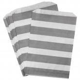 Grey Stripe Favor Bags Set of 24