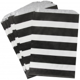 Black and White Stripe Favor Bags Set of 24