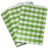 Green Gingham Favor Bags Set of 24